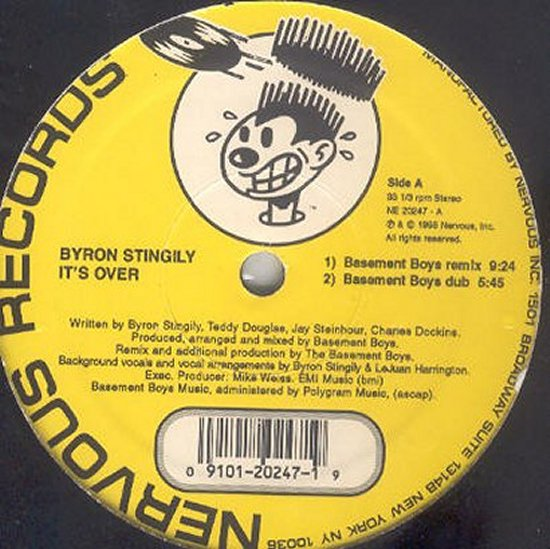 Byron Stingily - It's Over - Basement Boys Remix / Basement Boys Dub / Run To Me - Vocal / Dub