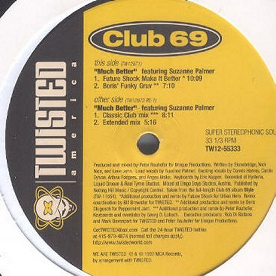Club 69 feat. Suzanne Palmer - Much Better