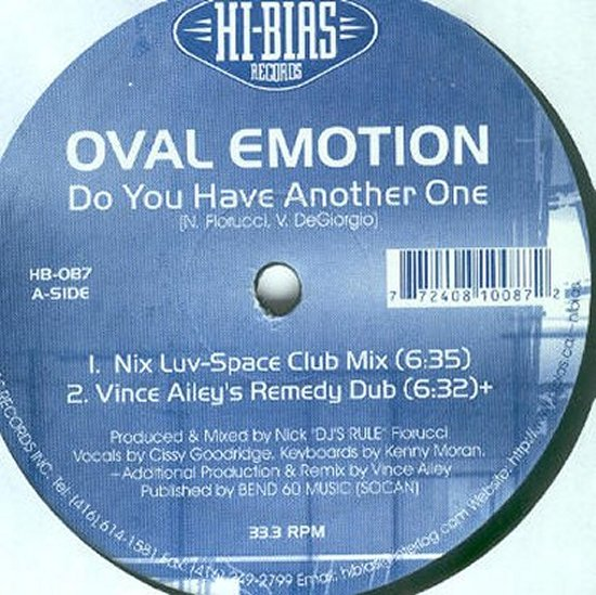 Oval Emotion - Do You Have Another One