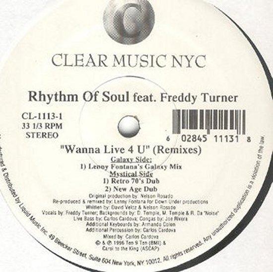 Rhythm Of Soul feat. Freddy Turner - Wanna Live 4 U