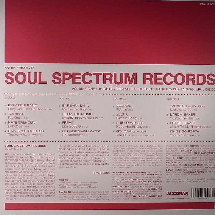 Various Artists - Soul Spectrum Vol 1 Plus bonus 45