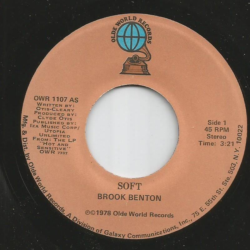 Brook Benton - Soft / Glow Love
