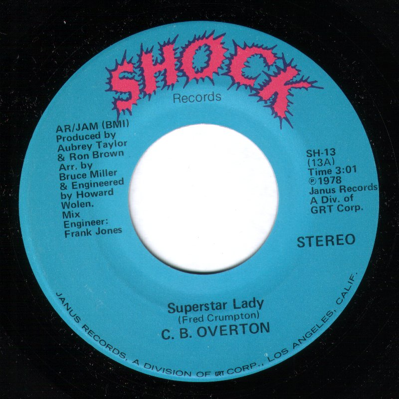 CB Overton - Superstar Lady / When It Rains It Pours
