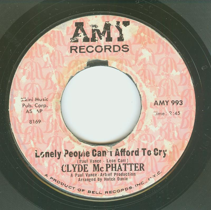 Clyde McPhatter - Lonely People Can't Afford To Cry / I Dreamt I Died