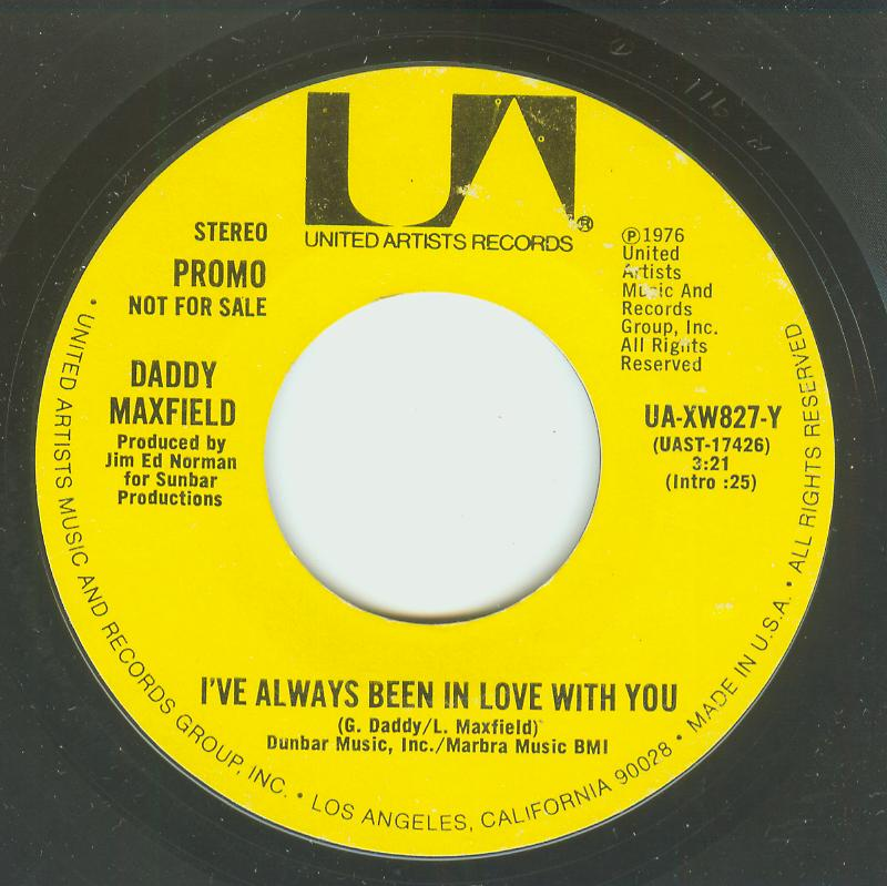 Daddy Maxfield - I've Always Been In Love With You / Same