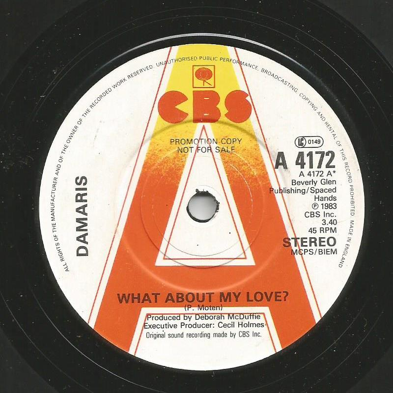 Damaris - What About My Love / Hooray For Love