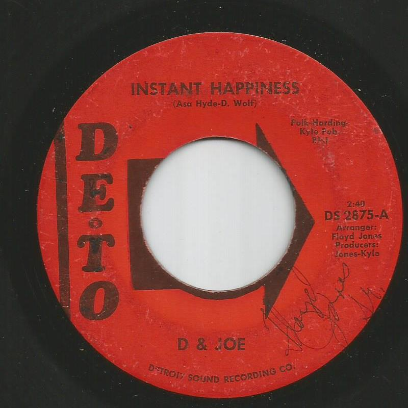 D & Joe - Instant Happiness / Alone In The Chapel