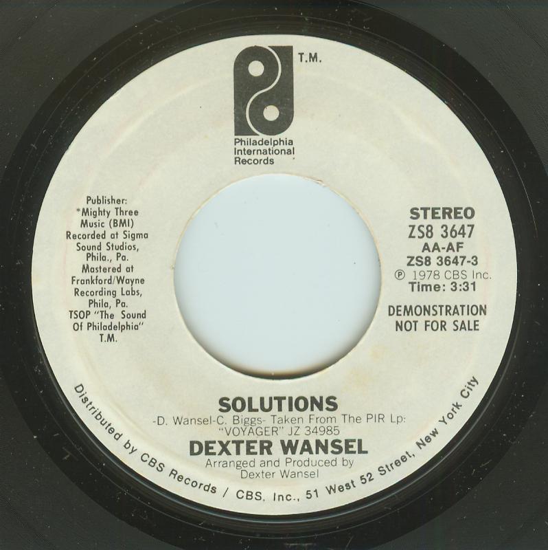 Dexter Wansel - Solutions / Same