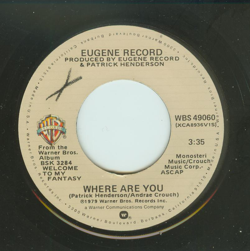 Eugene Record - Where Are You / Sweet Insanity