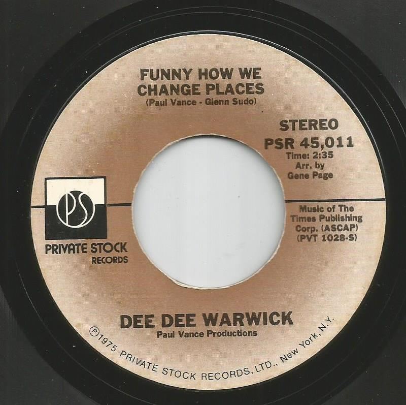 Dee Dee Warwick - Funny How We Change Places / Get Out Of My Life