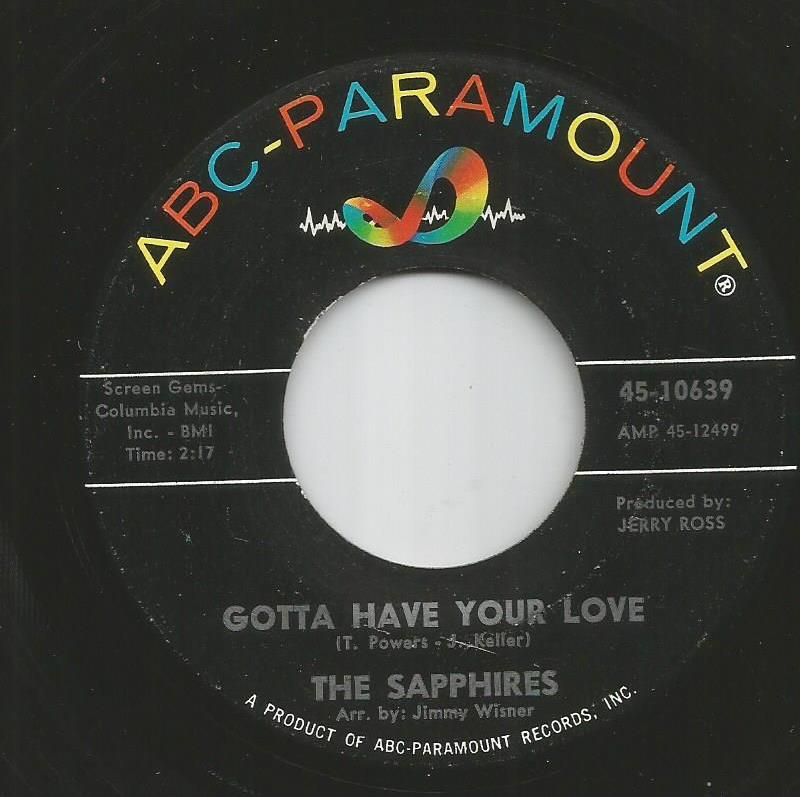 Sapphires - Gotta Have Your Love / Gee, I'm Sorry Baby