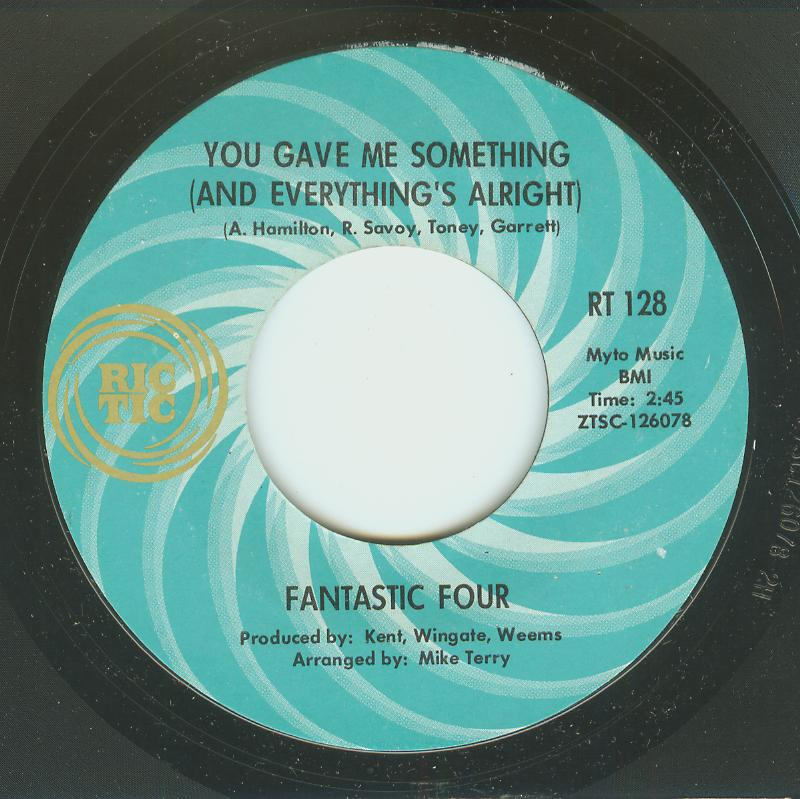 Fantastic Four - You Gave Me Something / I Don't Wanna Live Without You