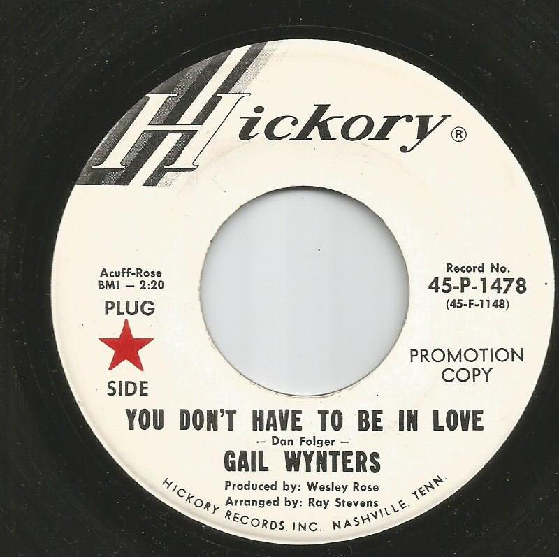 Gail Wynters - You Don't Have To Be In Love / My Man