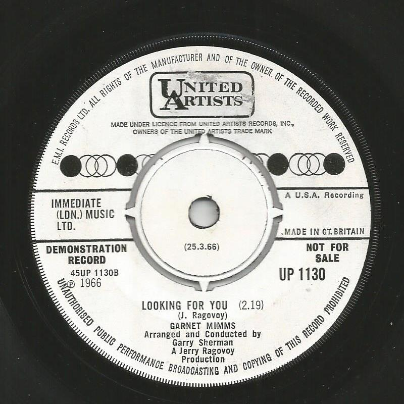 Garnet Mimms - Looking For You / I'll Take Good Care Of You