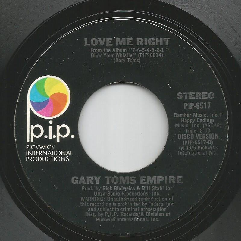 Gary Toms Empire - Love Me Right / Love Me Right