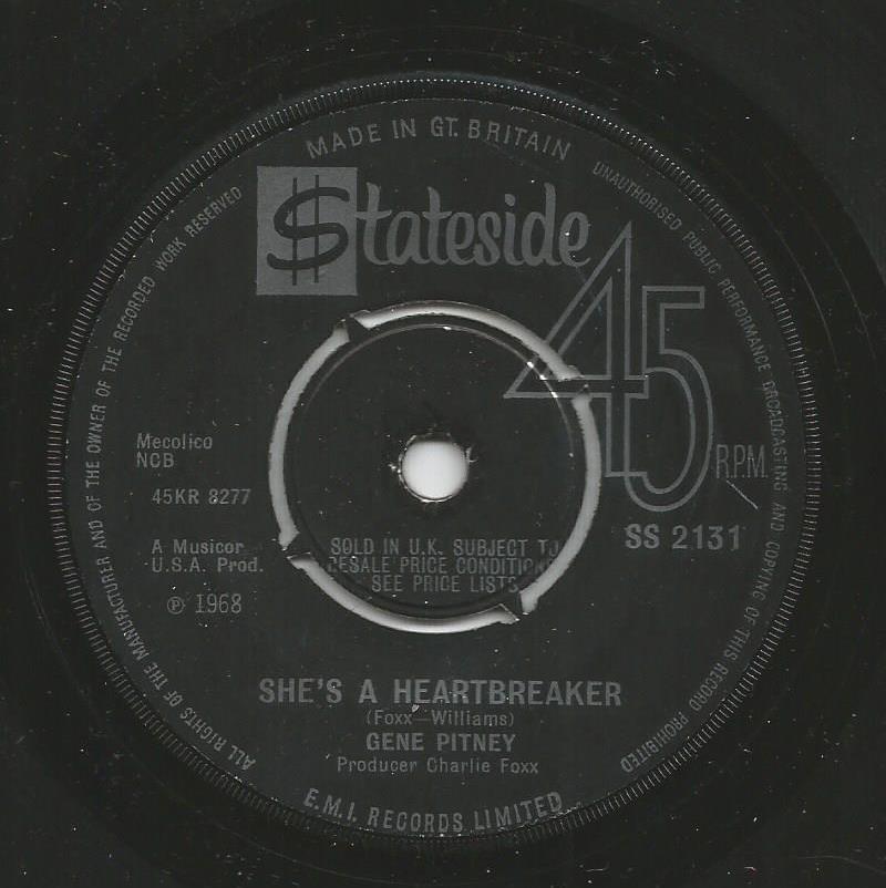 Gene Pitney - She's A Heartbreaker / Yours Until Tomorrow