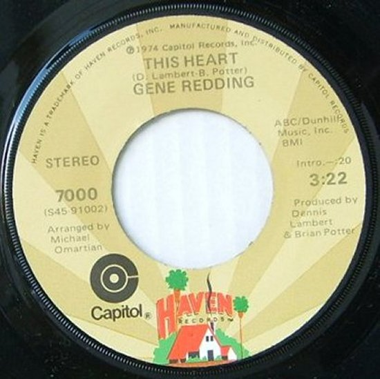 Gene Redding - This Heart / What Do I Do On Sunday Morning
