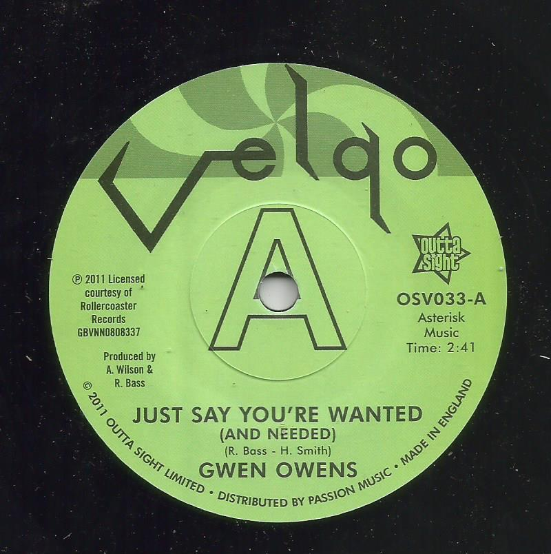 Gwen Owens - Just Say You're Wanted / I Lost A Good Thing