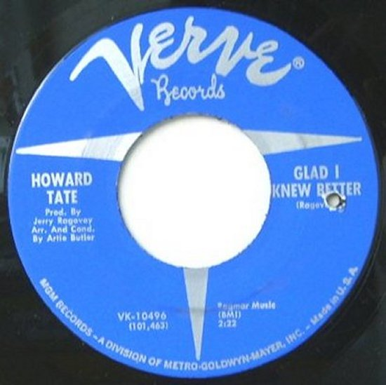 Howard Tate - Glad I Knew Better / Get It While You Can