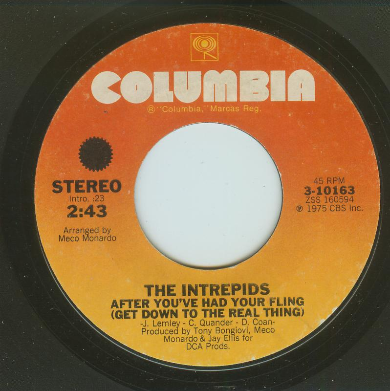 Intrepids - After You've Had Your Fling / A Dose Of Your Love