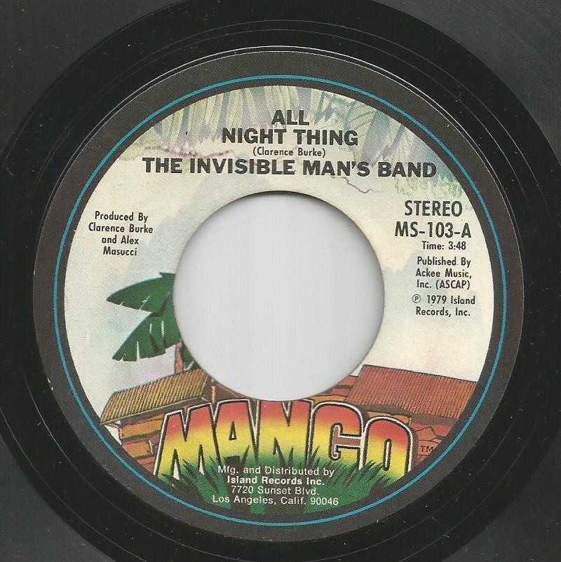 Invisible Man's Band - All Night Thing / All Night Thing - Instrumental