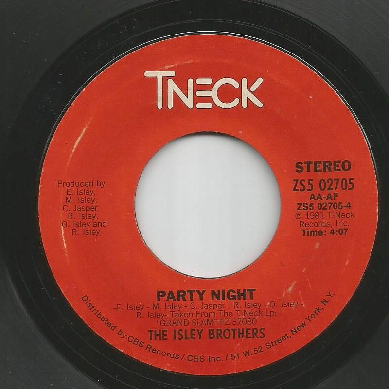 Isley Brothers - Party Night / Welcome To My Heart