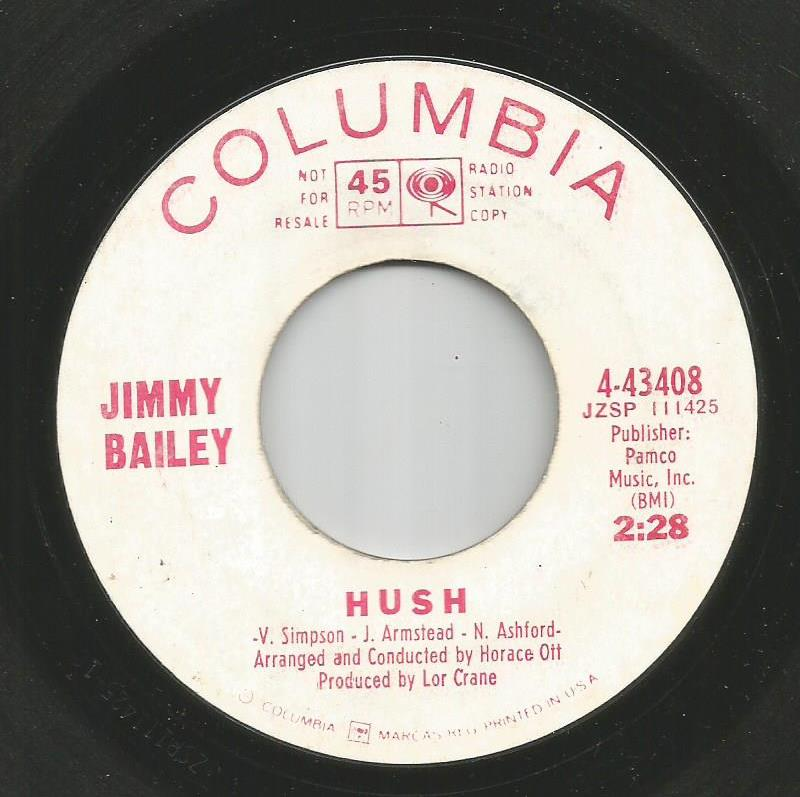 Jimmy Bailey - Hush / If Goodbye Means Gone