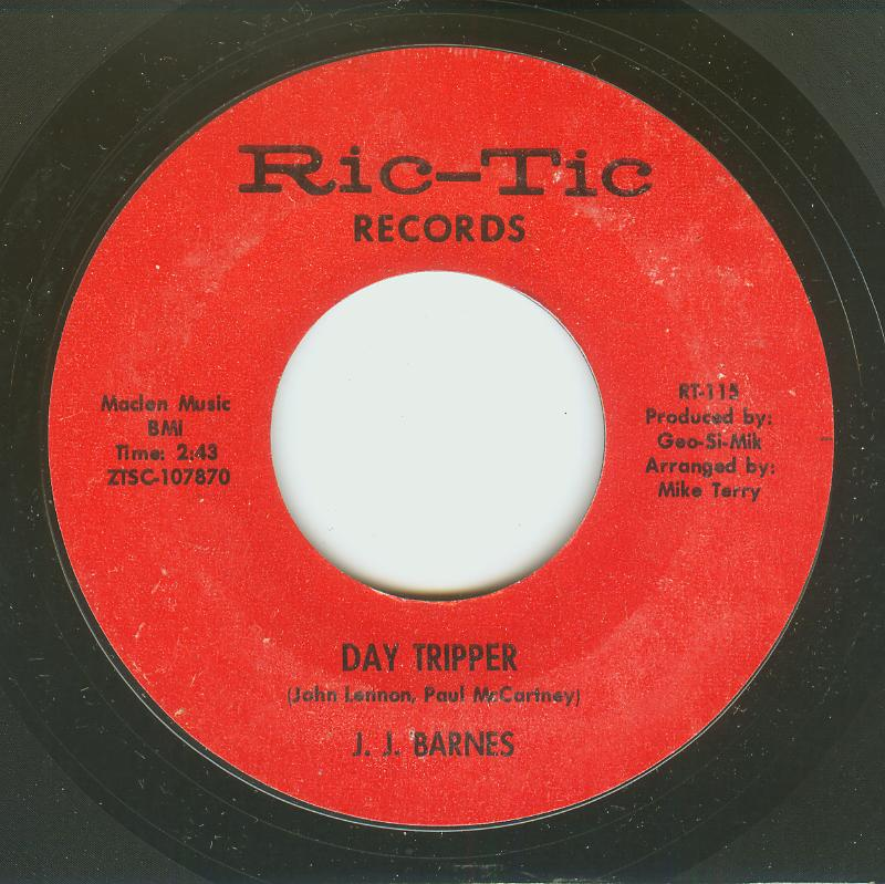 J. J. Barnes Day Tripper / Don't Bring Me Bad News