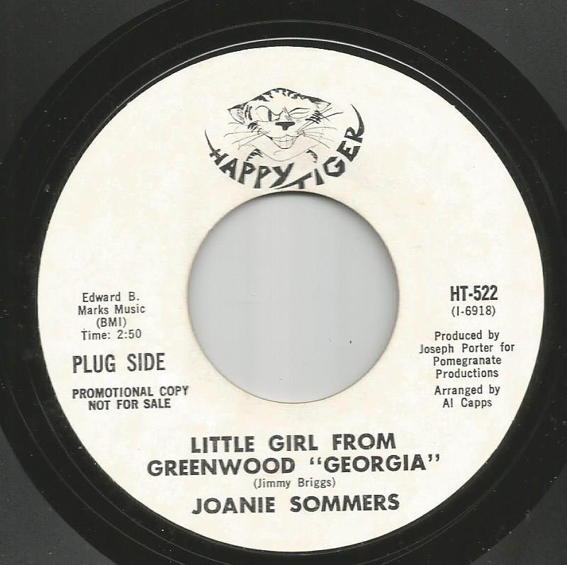 Joanie Sommers - Little Girl From Greenwood / Step Inside Love