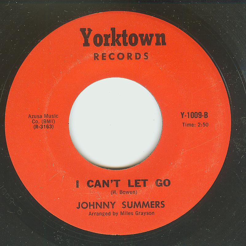 Johnny Summers - I Can't Let Go / Tell It Like I Feel