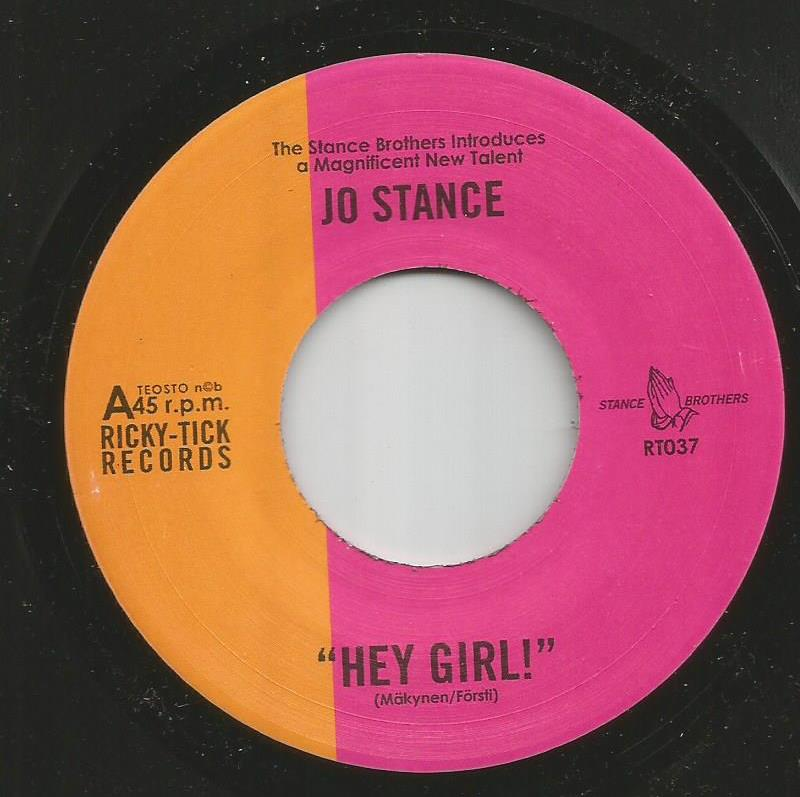 Jo Stance - Hey Girl / Instrumental