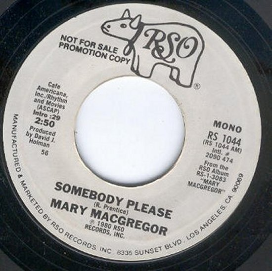 Mary Macgregor - Somebody Please / Same