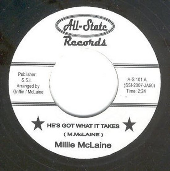 Millie McLaine - He's Got What It Takes / He's Got What It Takes - studio take