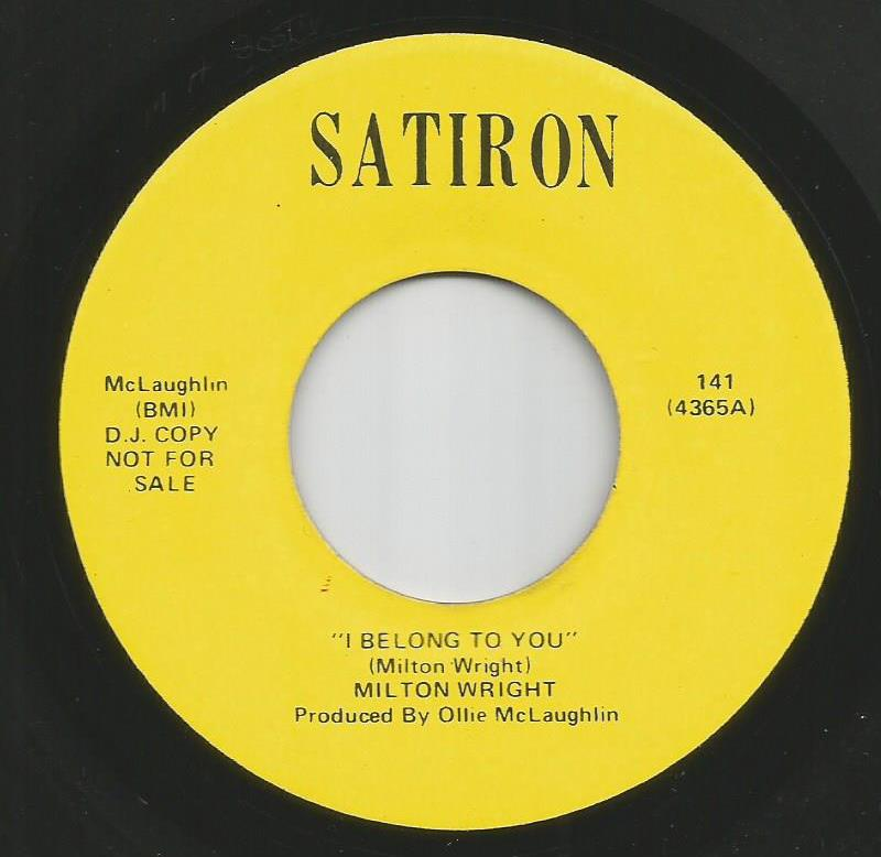 Milton Wright - I Belong To You / Like A Rolling Stone