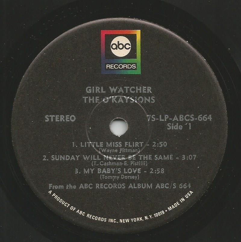 O'Kaysions - Girl Watcher