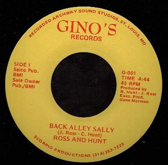 Ross & Hunt - Back Alley Sally / I'll Love You Tomorrow