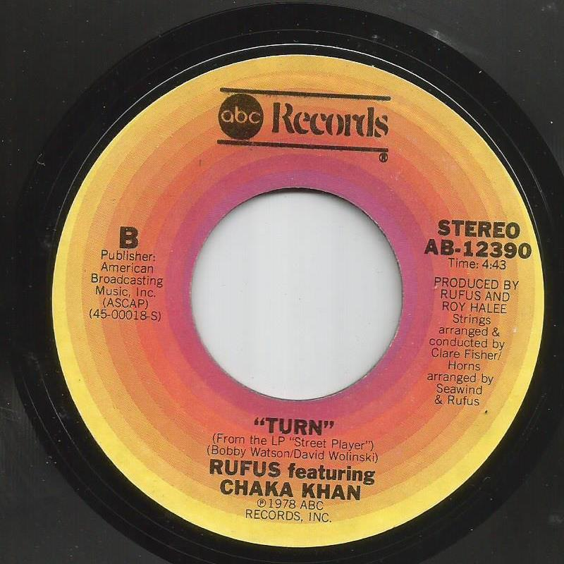 Rufus featuring Chaka Kahn - Turn / Blue Love