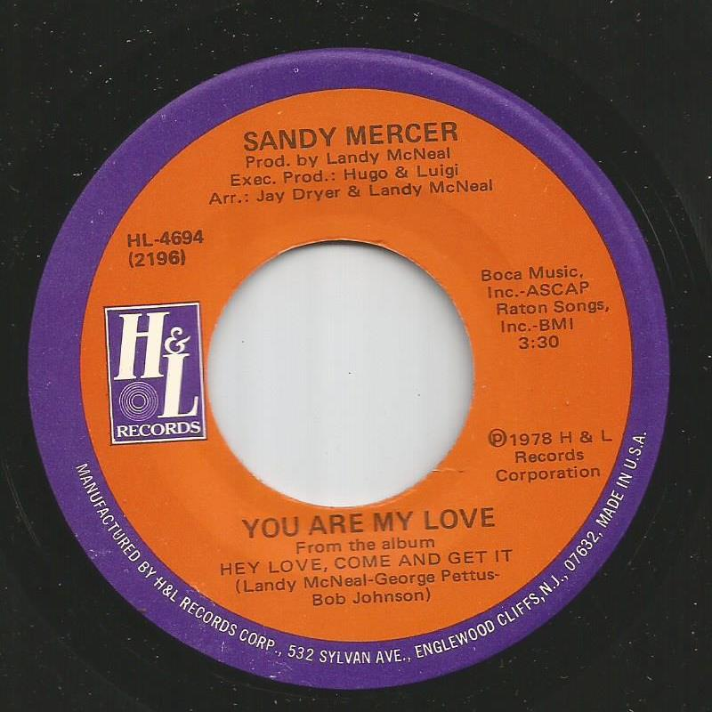 Sandy Mercer - You Are My Love / Play With Me