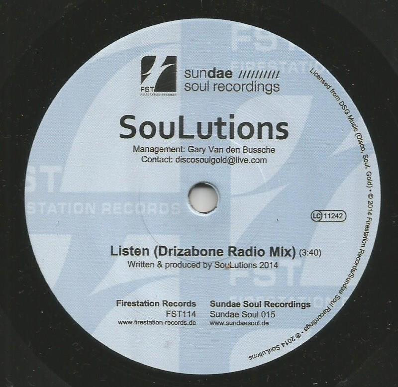 SouLutions - Listen (Drizabone Radio Edit) / Philly Line