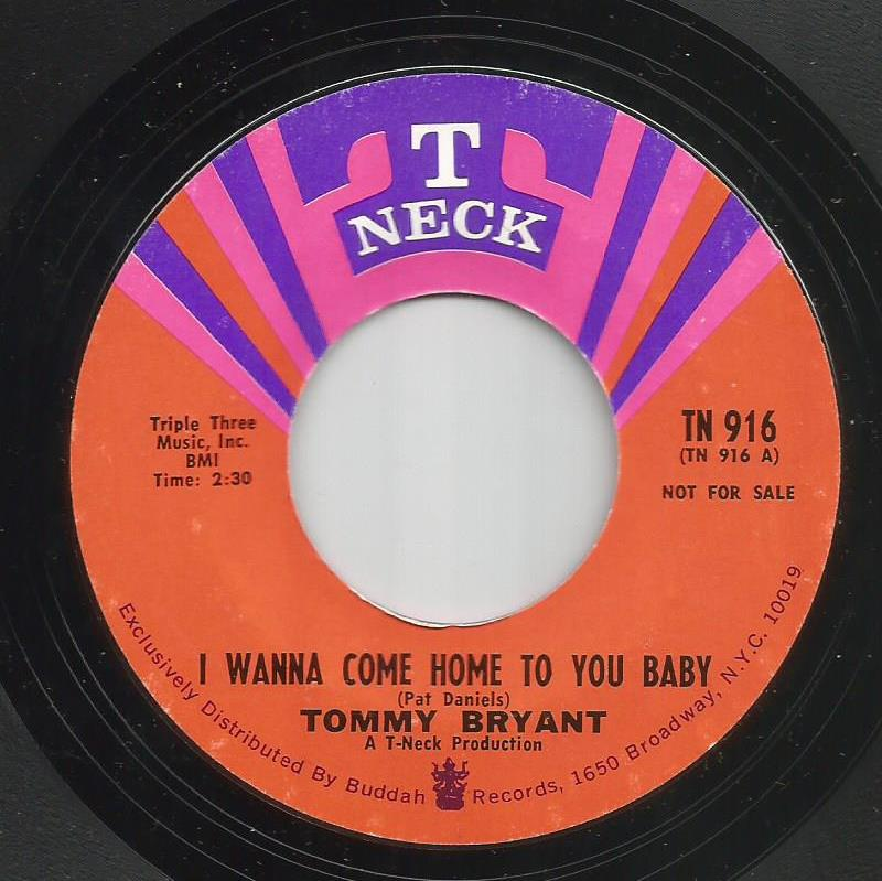 Tommy Bryant - I Wanna Come Home To You Baby / Heading Home - Instrumental