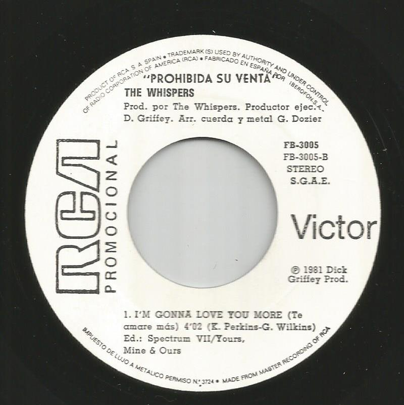 Whispers - I'm Gonna Love You More / I'm The One For You